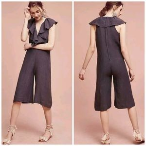 Anthropologie Maria Stanley Ruffled jumpsuit szS